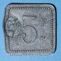 Coins Cholet (49). Cantine GIRARD - 77e d'Infanterie. 5 francs. Contremarqué