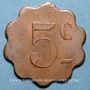 Coins Couëron (44). Usines. 5 centimes