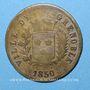 Coins Grenoble (38). Ville de Grenoble - Association Alimentaire. 1850. Contremarqué d'une étoile
