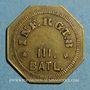 Coins Infanterie. 8e - 3e bataillon. Metz (57). 10 cmes. Laiton