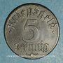 Coins Strasbourg (67). Ville.  5 pfennig 1918. Fer