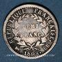 Coins 1er empire (1804-1814). 1/2 franc REPUBLIQUE 1808BB. Strasbourg