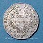 Coins 1er empire (1804-1814). 1/2 franc, tête nue, an 13A