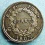Coins 1er empire (1804-1814). 1/4 franc tête de nègre 1807A