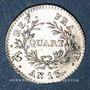 Coins 1er empire (1804-1814). 1/4 franc, tête nue, an 13 A