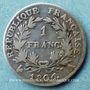 Coins 1er empire (1804-1814). 1 franc, date grégorienne, 1806A