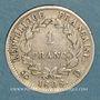 Coins 1er empire (1804-1814). 1 franc REPUBLIQUE 1808D. Lyon