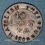 Coins 1er empire (1804-1814). 10 cmes 1808A. Faux d'époque