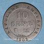 Coins 1er empire (1804-1814). 10 cmes 1808BB. Strasbourg