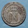 Coins 1er empire (1804-1814). 10 cmes 1809H. La Rochelle