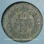 Coins 1er empire (1804-1814). 1er blocus de Strasbourg 1814. 1 décime 1814 BB. Sans points
