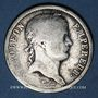 Coins 1er empire (1804-1814). 2 francs EMPIRE 1811H. La Rochelle