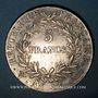 Coins 1er empire (1804-1814). 5 francs, tête nue, an 13W. Lille. 34 122 exemplaires !