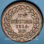 Coins 1ère Restauration (1814-15). 1er Blocus Strasbourg 1814. Décime 1814BB. Points après DECIME et 1814