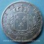 Coins 1ère restauration (1814-15), 5 francs buste habillé, 1814B, Rouen