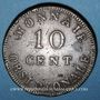 Coins 1ère restauration (1814-1815). Siège d'Anvers, 10 cmes 1814, R sous le ruban
