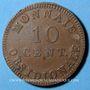 Coins 1ère restauration (1814-1815), Siège d'Anvers, 10 cmes 1814