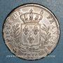 Coins 1ère restauration. Louis XVIII (1814-15). 5 francs buste habillé 1814B. Rouen