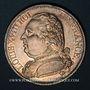 Coins 1ère Restauration. Louis XVIII (1814-1815). 5 francs buste habillé 1814K. Bordeaux