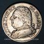 Coins 1ère Restauration, Louis XVIII (1814-1815). 5 francs buste habillé 1814M. Toulouse