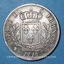 Coins 1ère restauration. Louis XVIII (1814-1815), 5 francs, buste habillé, 1814Q Perpignan