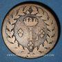 Coins 2e blocus de Strasbourg 1815. 1 décime 1815BB. Sans points