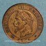 Coins 2e empire (1852-1870). 1 centime tête laurée 1861A