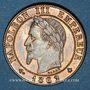 Coins 2e empire (1852-1870). 1 centime tête laurée 1862A