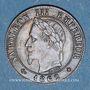 Coins 2e empire (1852-1870). 1 centime tête laurée 1862BB. Strasbourg. Grand BB