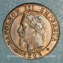 Coins 2e empire (1852-1870). 1 centime tête laurée 1862BB. Strasbourg. Petit BB