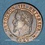 Coins 2e empire (1852-1870). 1 centime tête laurée 1862K. Bordeaux