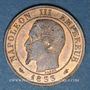 Coins 2e empire (1852-1870). 1 centime, tête nue, 1853A
