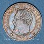 Coins 2e empire (1852-1870). 1 centime, tête nue, 1853BB. Strasbourg