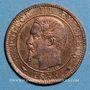 Coins 2e empire (1852-1870). 1 centime, tête nue, 1853MA. Marseille