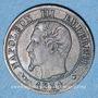Coins 2e empire (1852-1870). 1 centime, tête nue, 1854BB. Strasbourg