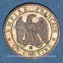 Coins 2e empire (1852-1870). 1 centime, tête nue, 1856BB. Strasbourg