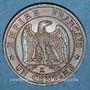 Coins 2e empire (1852-1870). 1 centime, tête nue, 1856K. Bordeaux