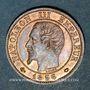 Coins 2e empire (1852-1870). 1 centime, tête nue, 1856MA. Marseille