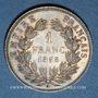 Coins 2e empire (1852-1870). 1 franc, tête nue, 1858A