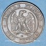 Coins 2e empire (1852-1870). 2 centimes, tête nue, 1855BB. Strasbourg. Ancre