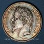 Coins 2e empire (1852-1870). 2 francs, tête laurée, 1869A