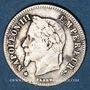 Coins 2e empire (1852-1870). 20 centimes tête laurée, petit module 1866BB. Strasbourg