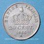 Coins 2e empire (1852-1870). 20 centimes, tête laurée, petit module 1866K. Bordeaux
