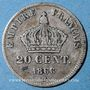Coins 2e empire (1852-1870). 20 cmes tête laurée, petit module 1866BB Strasbourg
