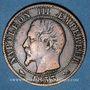 Coins 2e empire (1852-1870). 5 centimes, tête nue, 1853B. Rouen