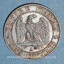 Coins 2e empire (1852-1870). 5 centimes, tête nue, 1855A. Chien