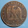 Coins 2e empire (1852-1870). 5 centimes, tête nue, 1856BB. Strasbourg