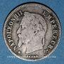 Coins 2e empire (1852-70), 20 cmes tête laurée, petit module 1864A