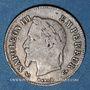 Coins 2e empire (1852-70), 20 cmes tête laurée, petit module 1866A