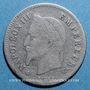 Coins 2e empire (1852-70), 20 cmes tête laurée, petit module 1866BB Strasbourg